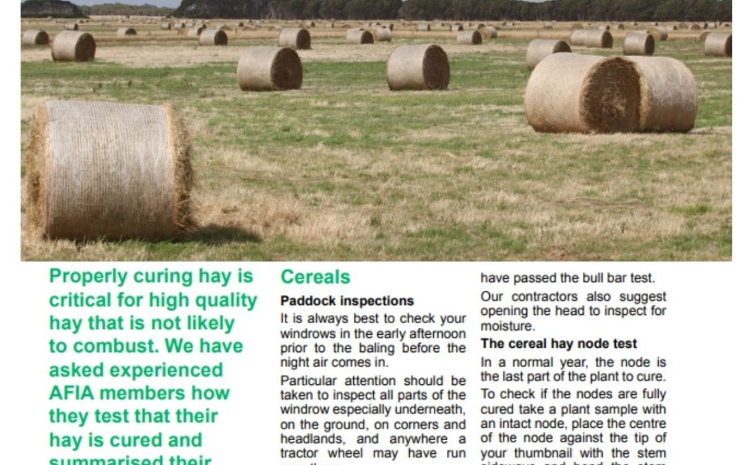 Curing Quality Hay