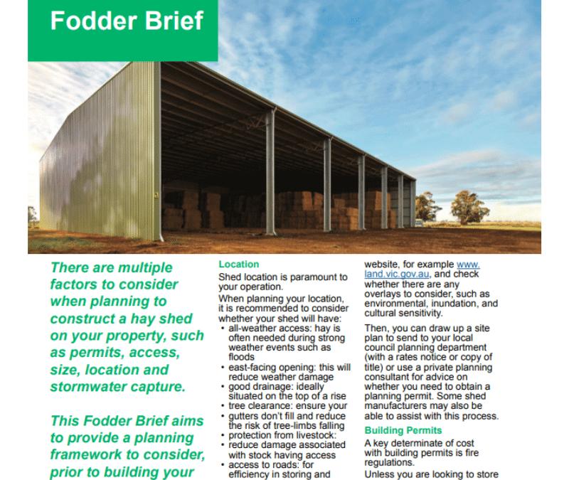 Fodder Storage and Hay Sheds